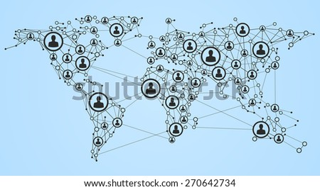 Illustration of global network, EPS 10. - stock vector