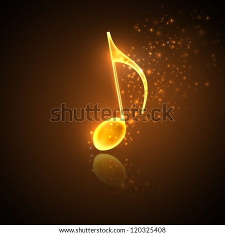 illustration of golden note - stock vector