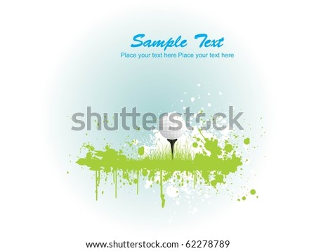 illustration of golf background, sports illustration