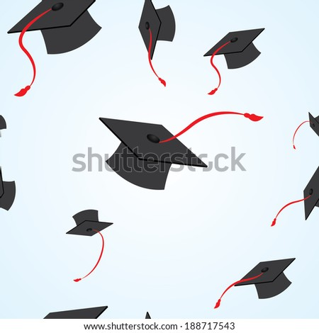 illustration of graduation seamless pattern