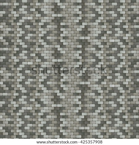 Illustration of Grey Stone Pavement Background - stock vector