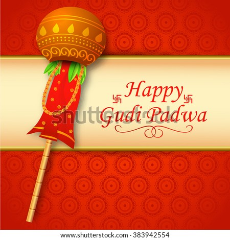 illustration of Gudi Padwa celebration of India.