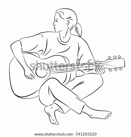 stock vector illustration of guitar player black and white drawing white background 541203220 country music player stock photos, royalty free images & vectors on pixel player template