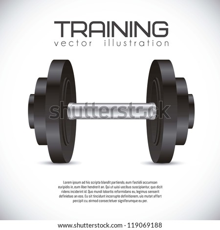 Illustration of gym icons,  weights realistic, vector illustration - stock vector