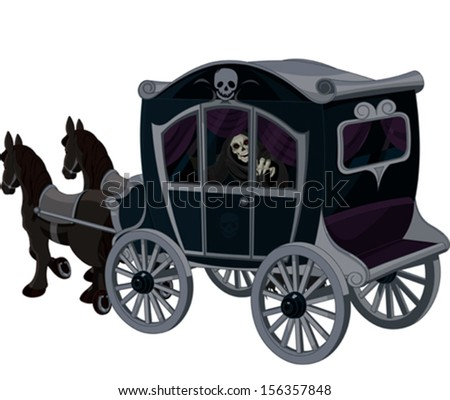 Illustration of Halloween carriage