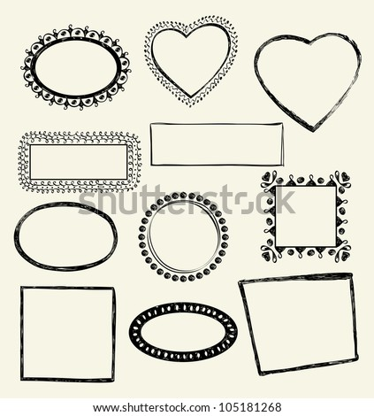 Illustration of Hand-Drawn Doodles and Design Elements. - stock vector