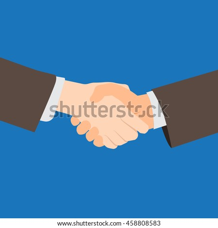 Illustration of Handshake with Copy Space. Vector Illustration.