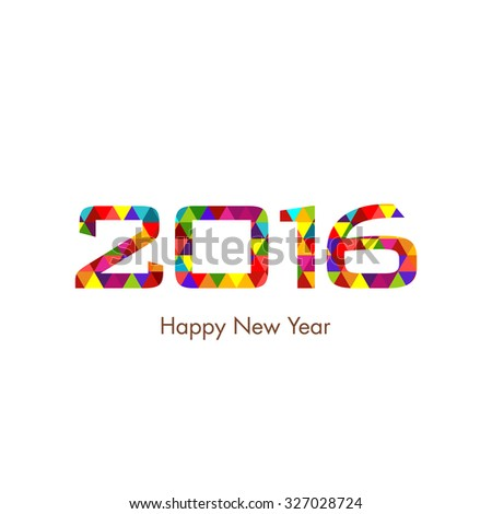 Illustration of happy new year,2016. - stock vector