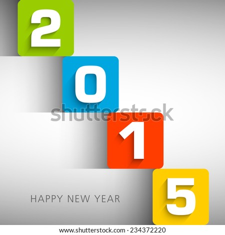 Illustration of Happy new year 2015 Text Design.