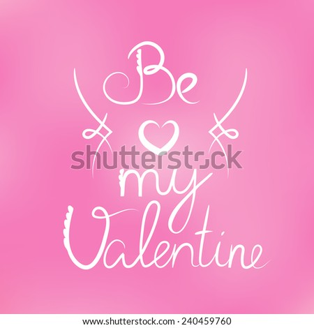 Illustration of Happy Valentines Background - stock vector