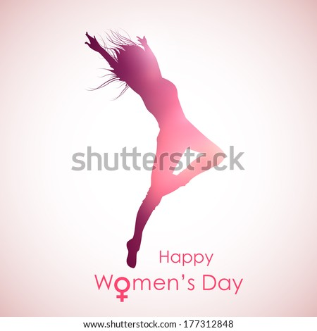 illustration of Happy Women's Day concept - stock vector