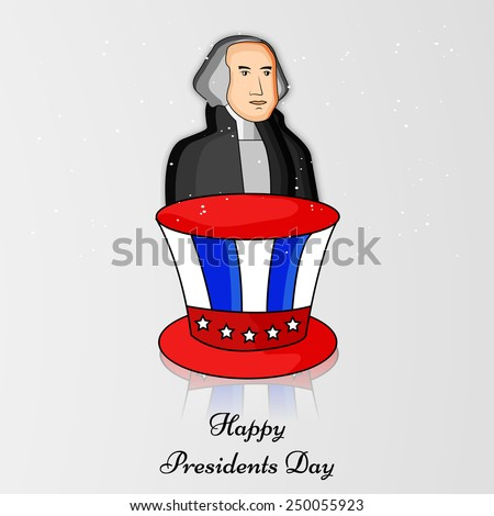 Illustration of Hat with American Flag for Presidents Day