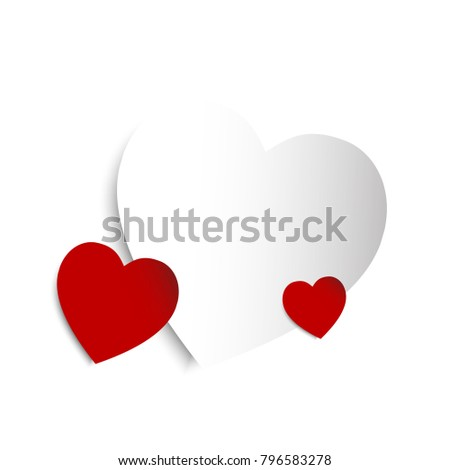 Illustration of heart Valentine's day. Abstract background. Conceptual Valentine's heart.