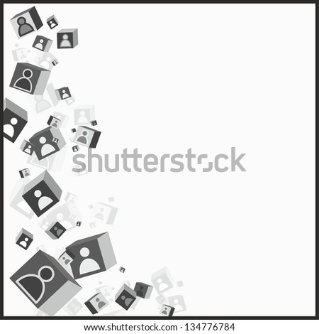 Illustration of human connecting - stock vector