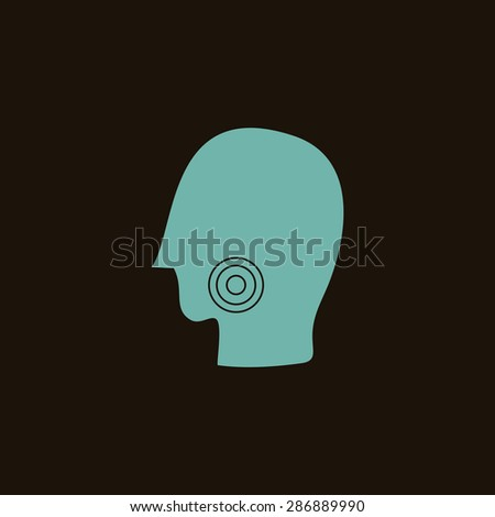 Illustration of human head
