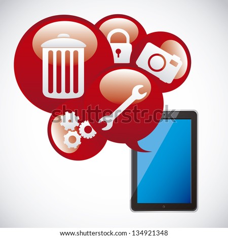 Illustration of icons of applications, app icons, vector illustration - stock vector