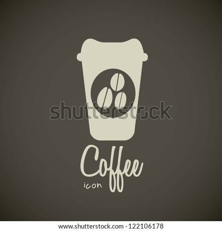 illustration of icons of coffee, cup for coffee, vector illustration - stock vector