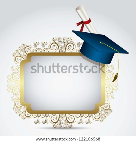 Illustration of icons of graduates. University icons. vector illustration - stock vector