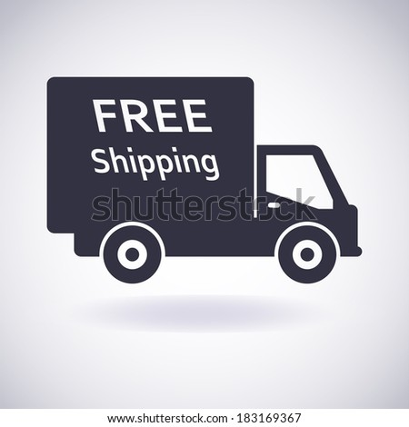 Illustration of icons Shipments and Free Delivery. Vector Illustration