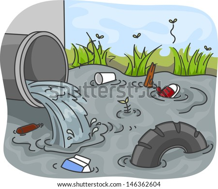 Illustration of Industrial Wastes resulting to Water ...