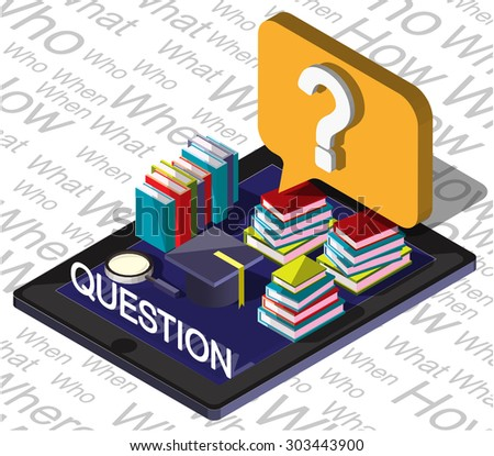 illustration of info graphic question mark concept  - stock vector