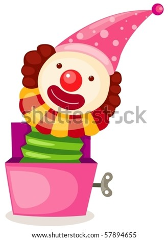 illustration of isolated a box toy on white background - stock vector