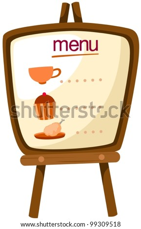 illustration of isolated a menu stand on white background - stock vector