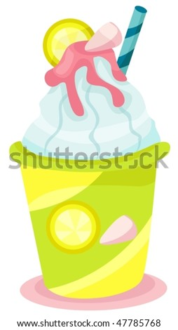 illustration of isolated a smoothy drink on white background