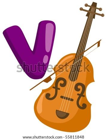 V Is For Violin Violin Cartoon ...