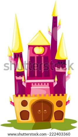 illustration of isolated castle on white background - stock vector