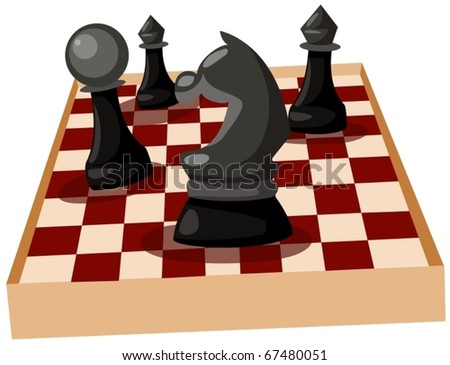 illustration of isolated chess on white background - stock vector