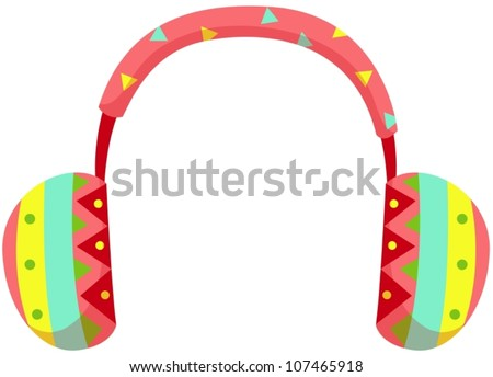 illustration of isolated ear muff on white background - stock vector