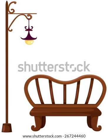 illustration of isolated empty branch and street lamp - stock vector