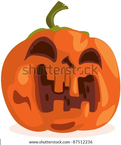illustration of isolated halloween pumpkin on white