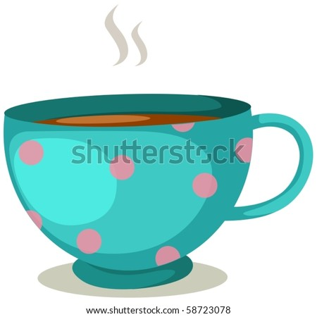 illustration of isolated hot of coffee cup on white background - stock vector