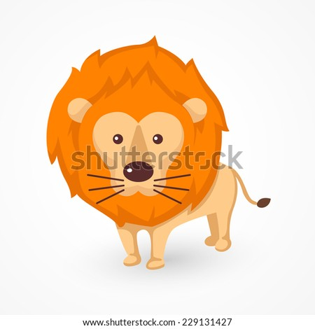 illustration of isolated lion vector