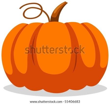 illustration  of isolated  pumpkin on white background