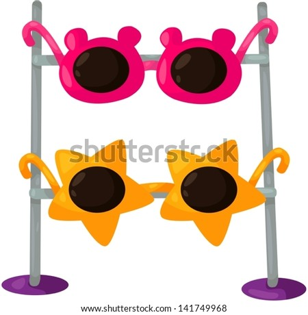 illustration of isolated sunglasses on white - stock vector