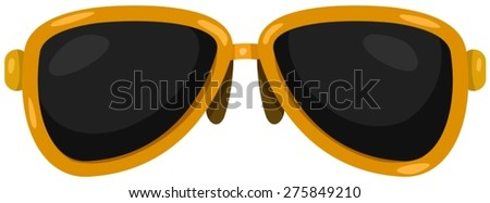 illustration of isolated sunglasses on white background - stock vector