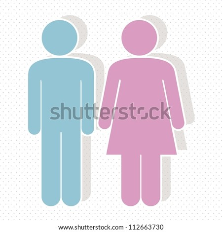 illustration of lady and gentleman, vector illustration - stock vector