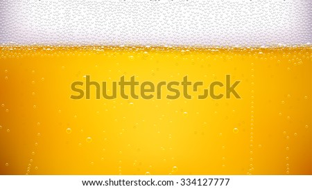 illustration of lager beer background with a lot of bubbles