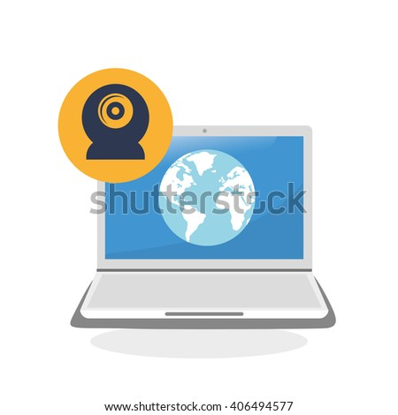 illustration of laptop design, editable vector