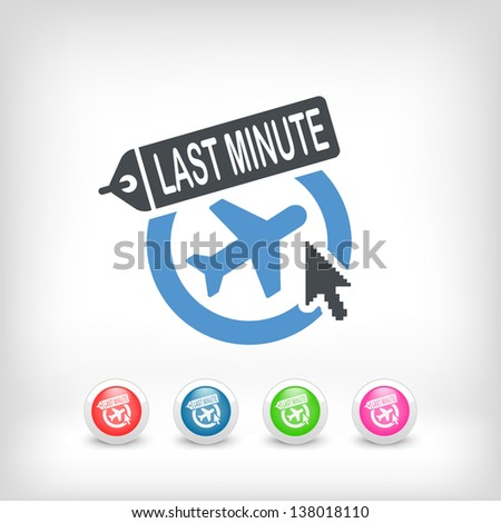 "Illustration of ""Last minute"" link icon - stock vector"