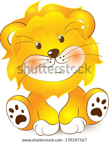 illustration of lion cartoon on a white background