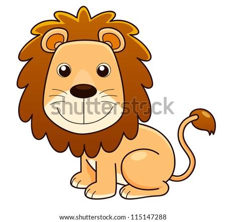 illustration of Lion cartoon.Vector - stock vector