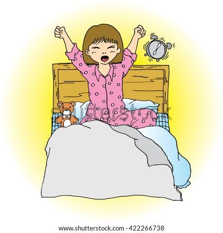 Wake Up Cartoon Stock Photos and Images