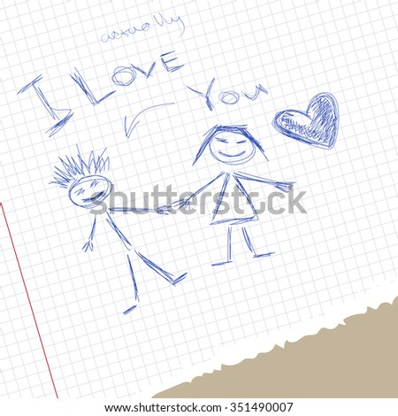 illustration of love scribble