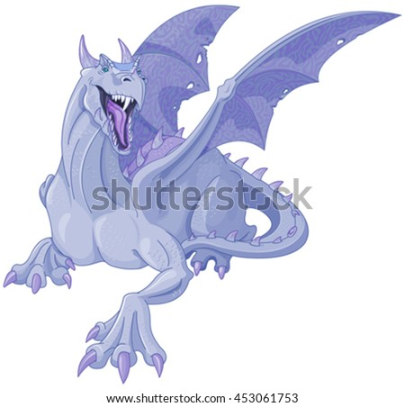 Illustration of magic dragon