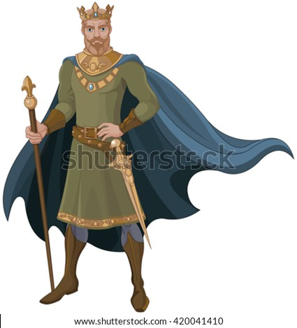 Illustration of majestic king - stock vector