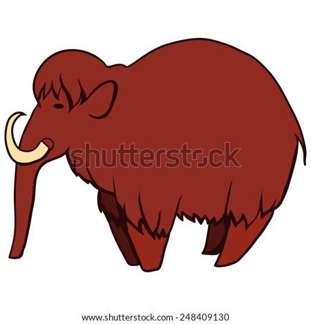 Illustration of mammoth - stock vector